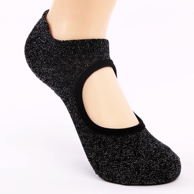 USHINE Qualité Backless Yoga Chaussettes pour les femmes antidérapante Séchage rapide Fitness Sport Pilates Ballet Chaussettes coton