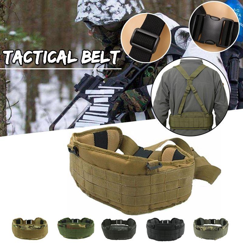 Apoio Da cintura para caça tático Exército Cinto Cummerbunds Homens da pistola da arma tática Molle acolchoado Combate