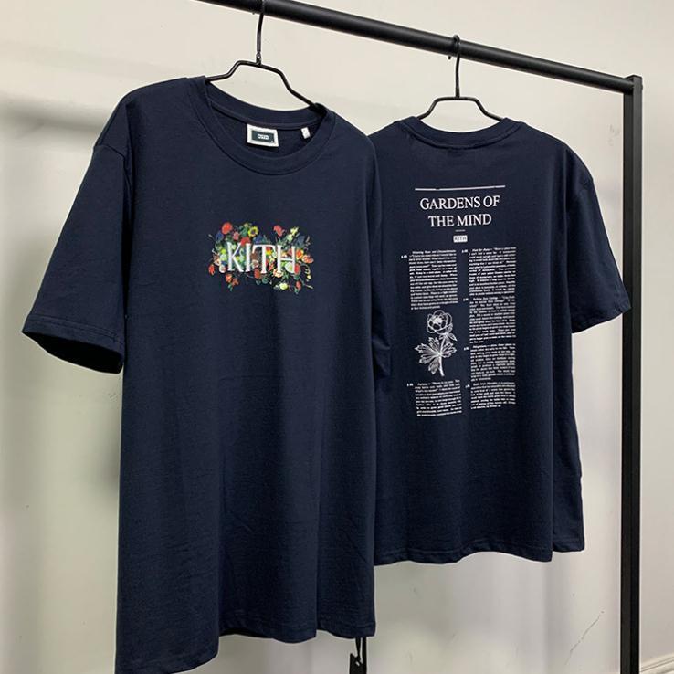 Kith Garten des Geistes Tops T Shirts Sesam Outwear Kleidung T-shirt Kurze Ärmel Uniqlo T-Shirt Mode L Street Casual TEE II Mann Frauen Qua Anjt