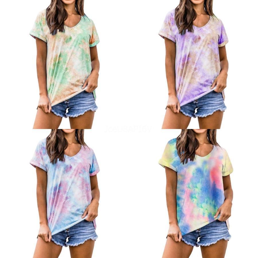 Женщины T-Shirt Плюс Размер Летняя одежда Сыпучие Топы Slim бамбука рубашки хлопка вскользь Tees Мода Твердые Blusas Vestidos костюм Одежда B53 # 856