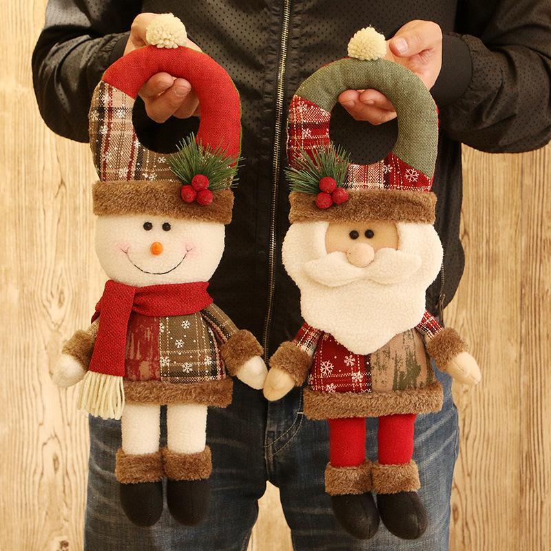 4 Doll Bambini Pz Natale Xmas Tree ciondolo appeso Giocattoli Babbo Natale del pupazzo di neve Orso Elk ornamento partito regali della decorazione Props
