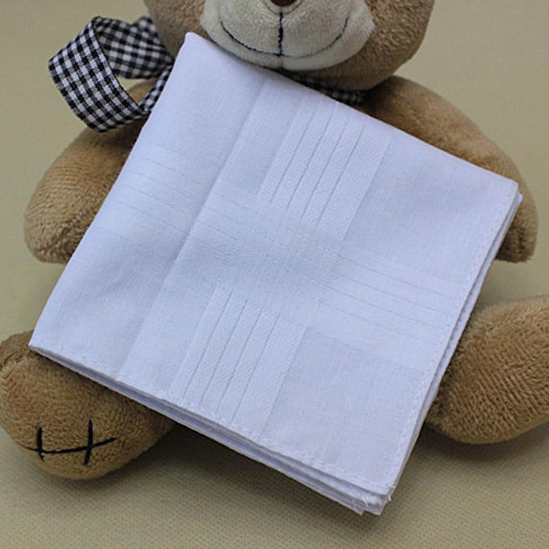 5 pc / lotto 100% cotone solido fazzoletto bianco Uomini fazzoletto Men Square Hanky 40cm * 40 centimetri