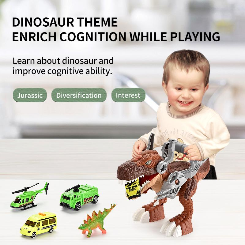TW2005024 Dinosaur World Tyrannosaurus Rex in the city Jurassic history Independent Assembling Improve Hands-on Ability