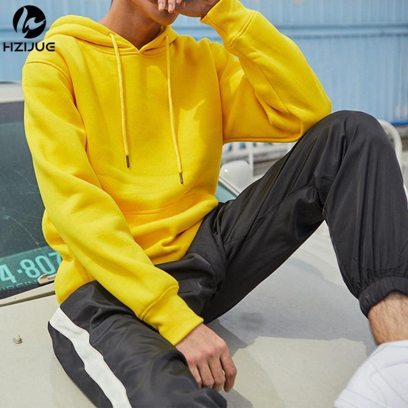 Nouveau design de mode Hip Hop Sweats à capuche 2020 hommes jaune / vert Sweat homme Marque à manches longues Rue Vêtements Porter Homme