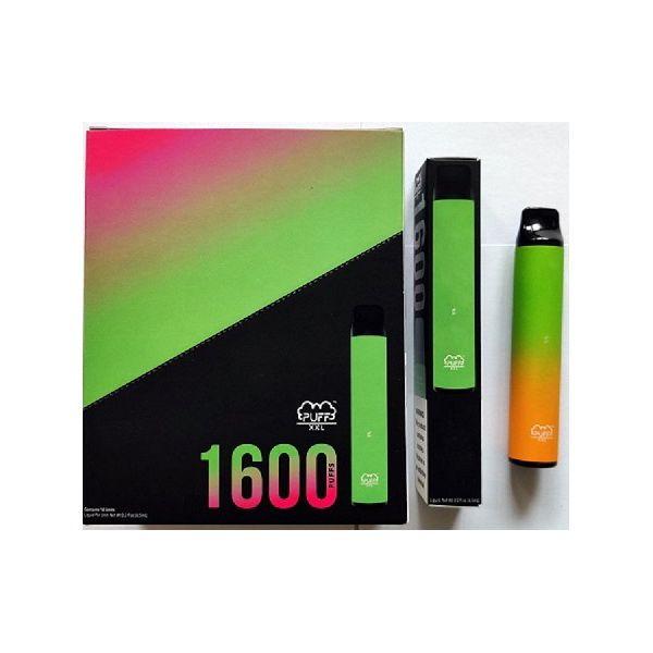Puff XXL 1600 Puffs Einweg Vape Pen Geräte Starter Kits Leere Einweg-Geräte Kits Puff Puff Flow-Xtra Plus-edibles Verpackung Runtz