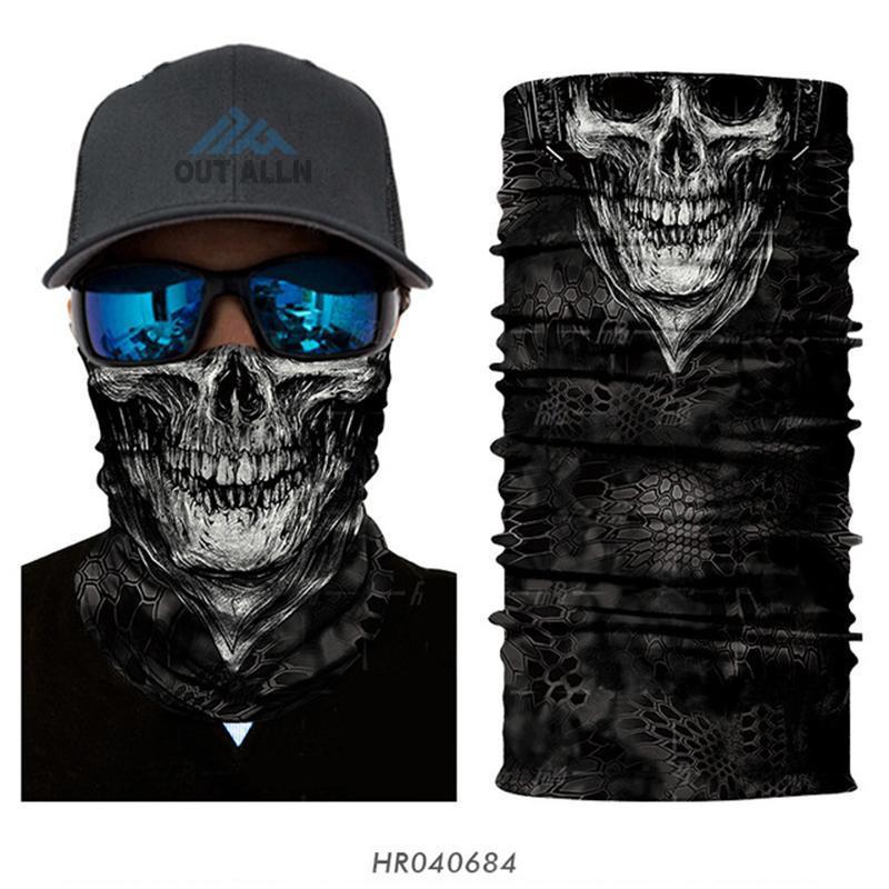 3D-Cycling-Gesichtsmaske Vendetta Hals Gamasche Joker Clown Schlauch Bandana Stirnband Schädel Mund Gesichts-Schild Camouflage Biker Ski Schals