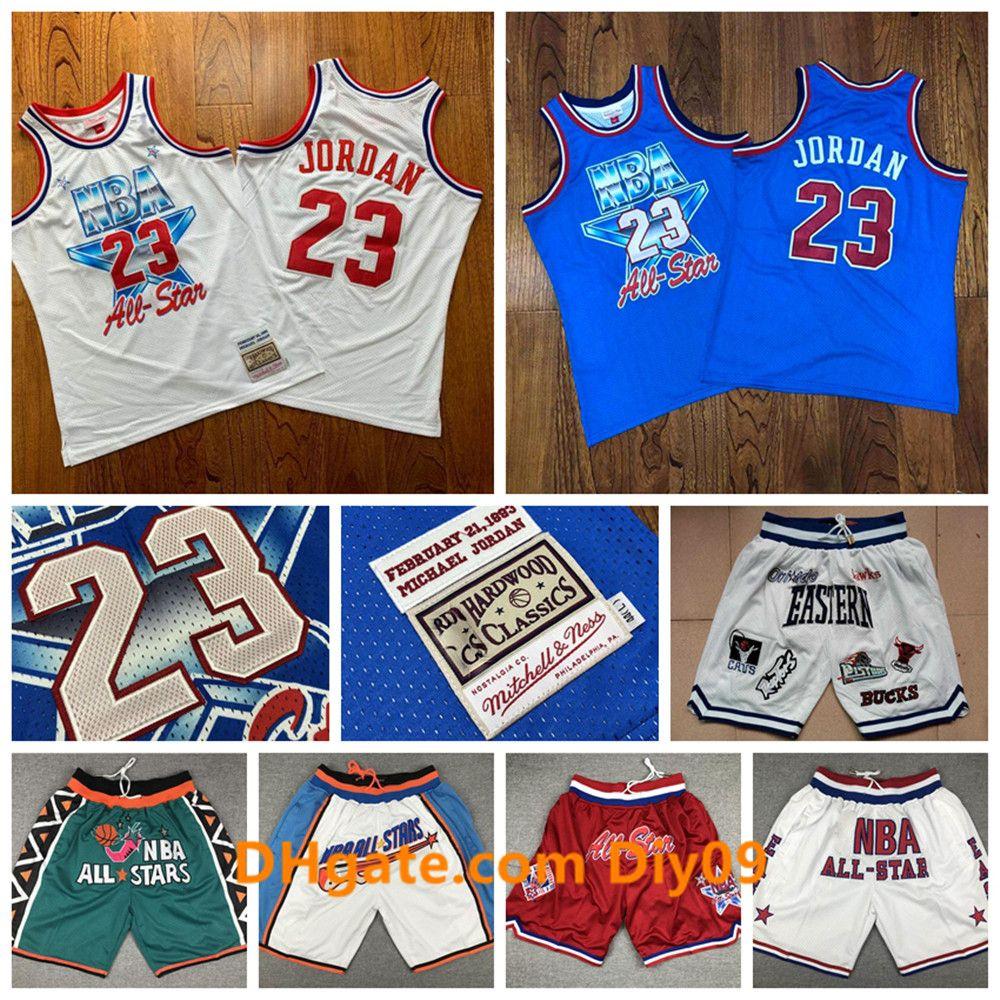 Mitchell Ness All-Star MichaelChicagotorosJordonBaloncesto Jersey Auténtico 23 Michael JD TodosEstrellaPantalones cortos de la NBA