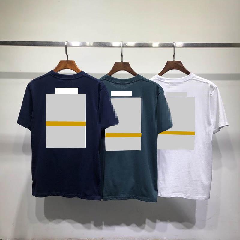 Famoso stilista maglietta di cotone degli uomini di modo di estate delle donne allentato High Street casual manica corta Skateboard hip hop T-shirt collare curvo
