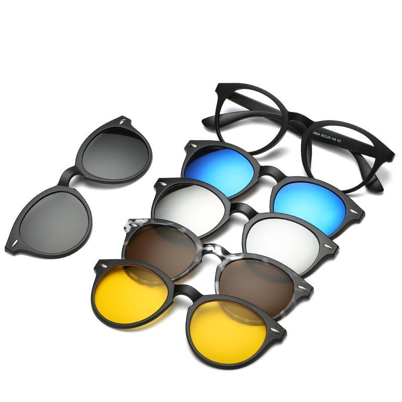 2020 nuevas mujeres de los polarizado gafas de sol óptico magnético del imán Clip Clip de gafas de sol Polaroid Clip en el marco de los vidrios de Sun