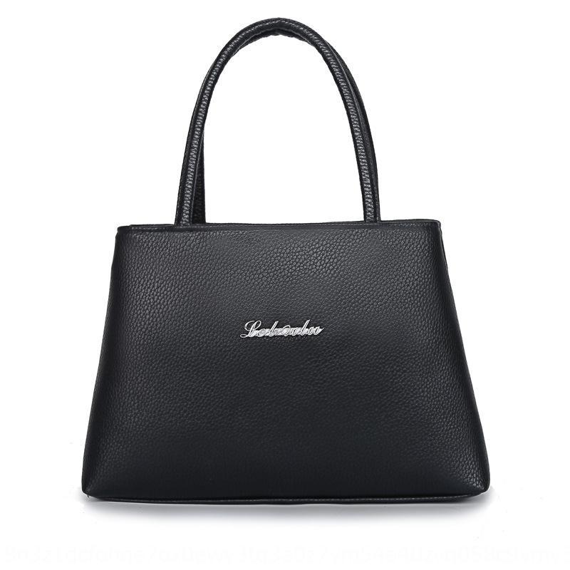 окрашены молния сумки PU сплошного цвета Рука молния сумки сумка среднего возраста и пожилых женщин