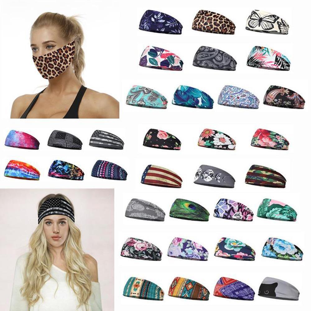 Partido de la máscara vendas elásticos Deporte diadema multifunción sudor Headwear de la bufanda para la aptitud Absorbiendo Turbante multi de los colores para elegir