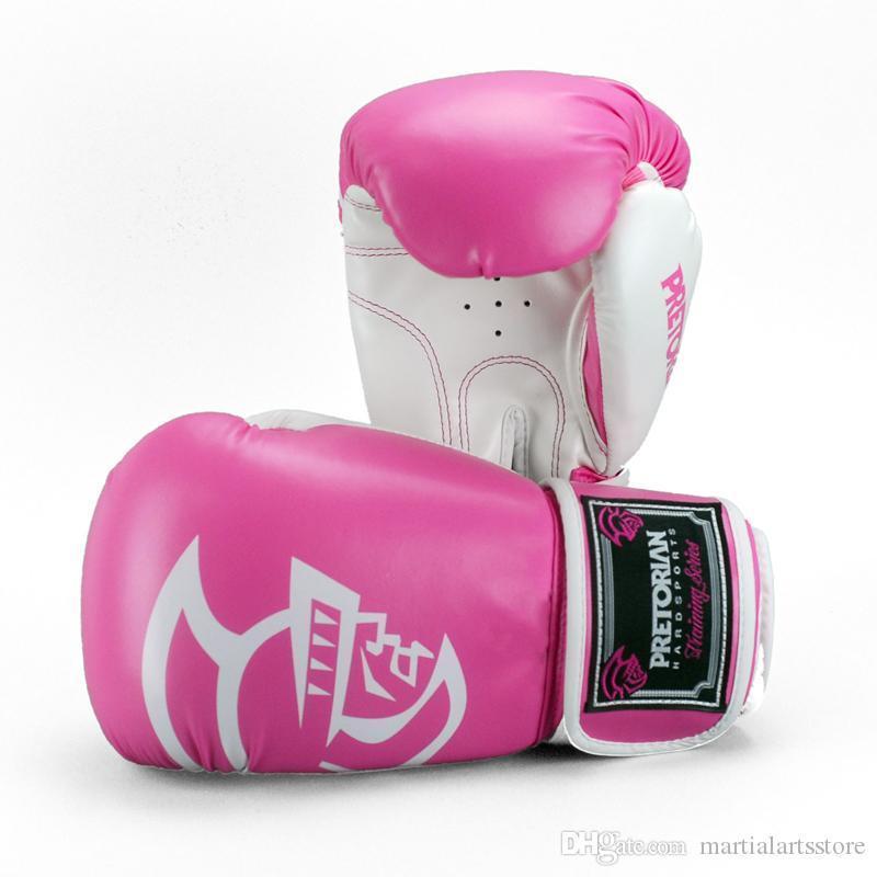 meilleure vente cuir gros gant de boxe thaï muay haute qualité gagnante gants de boxe roses pour les femmes
