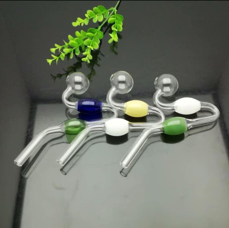 nova Europa e Americaglass tubulação bubbler fumar água Cachimbo de vidro bong pote de vidro em forma Cor cobra bola