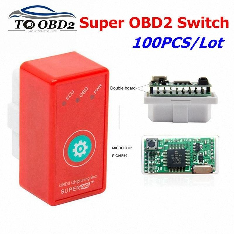 100pcs / lot Süper OBD2 NitroOBD2 İçin Dizel / Benzin Otomobil NitroOBD2 Chip Tuning Kutusu Fazla Güç Tork Nitro OBD Tak Sürücü luCW #