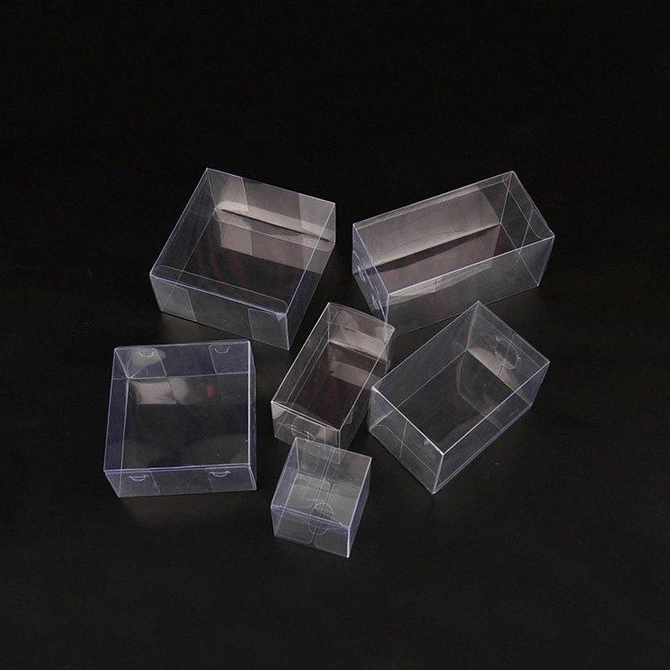 25 Tailles PVC transparent boîte en plastique, petites / grandes boîtes en plastique transparent Emballage cadeau pour Toy bonbons Favors Boîtes 10/9 4Lux #