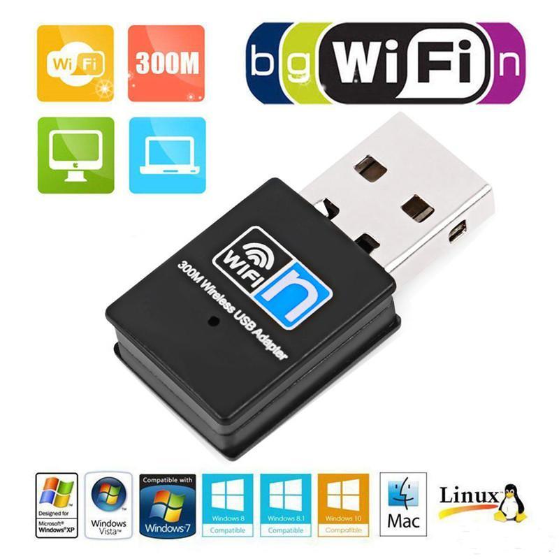 واي فاي البسيطة 300M USB2.0 RTL8192 واي فاي دونجل واي فاي اللاسلكية محول دونجل بطاقة شبكة 802.11n لمحولات LAN للقرص كمبيوتر محمول PC الكمبيوتر MQ50