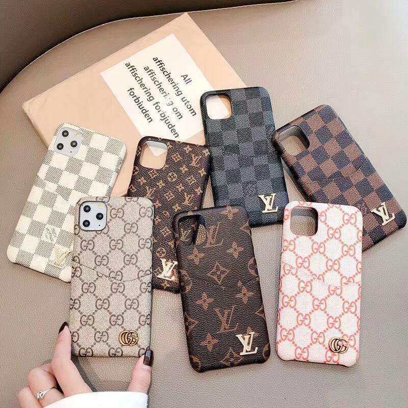 Luxury Designer Phone Case pour iPhone 11 Pro Max 8 8plus pour iPhone X XS Max 7 7plus Carte cuir Cas de téléphone de poche