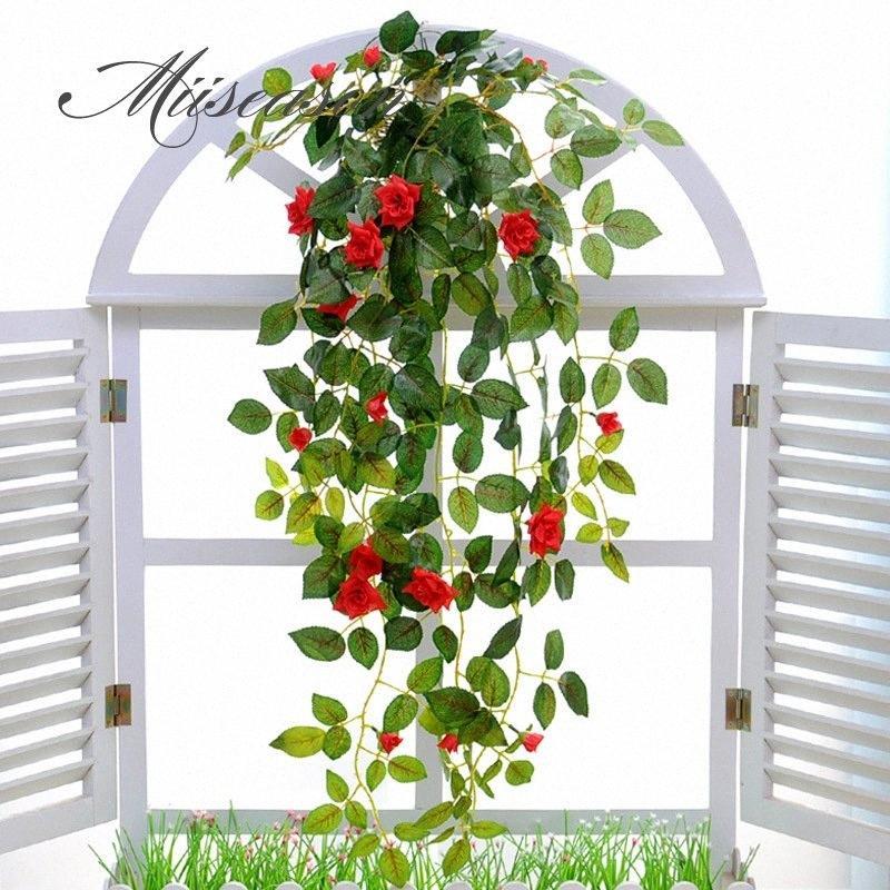 Искусственные цветы Моделирование Гобелен корзины цветок розы поддельные шелка виноградной лозы цветы leavf DIY гирлянда цветок для дома свадьбы nxuh #