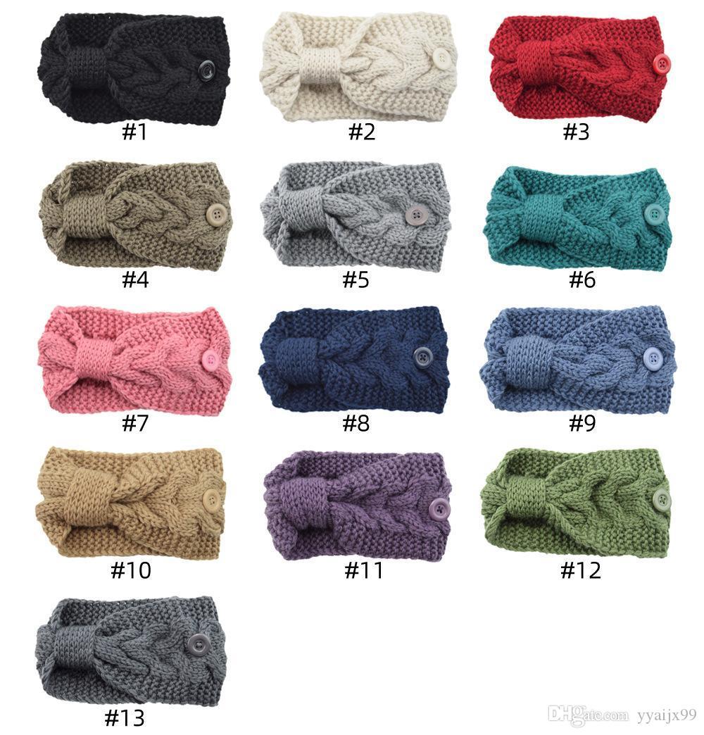 Women Wool Knit Headband Crochet Twist Ear Warmer Hairband Sports Headwraps
