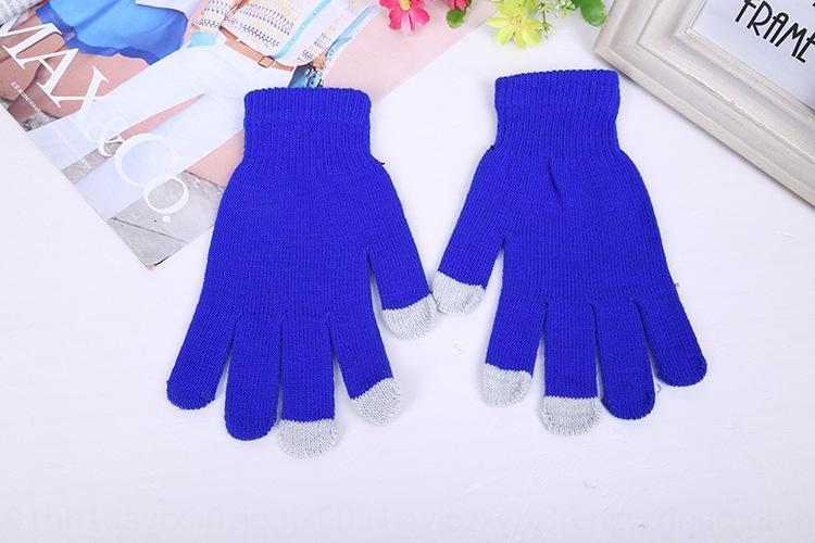 Inverno tela de toque quente malha Quente cinco dedos e luvas luvas do toque de tela
