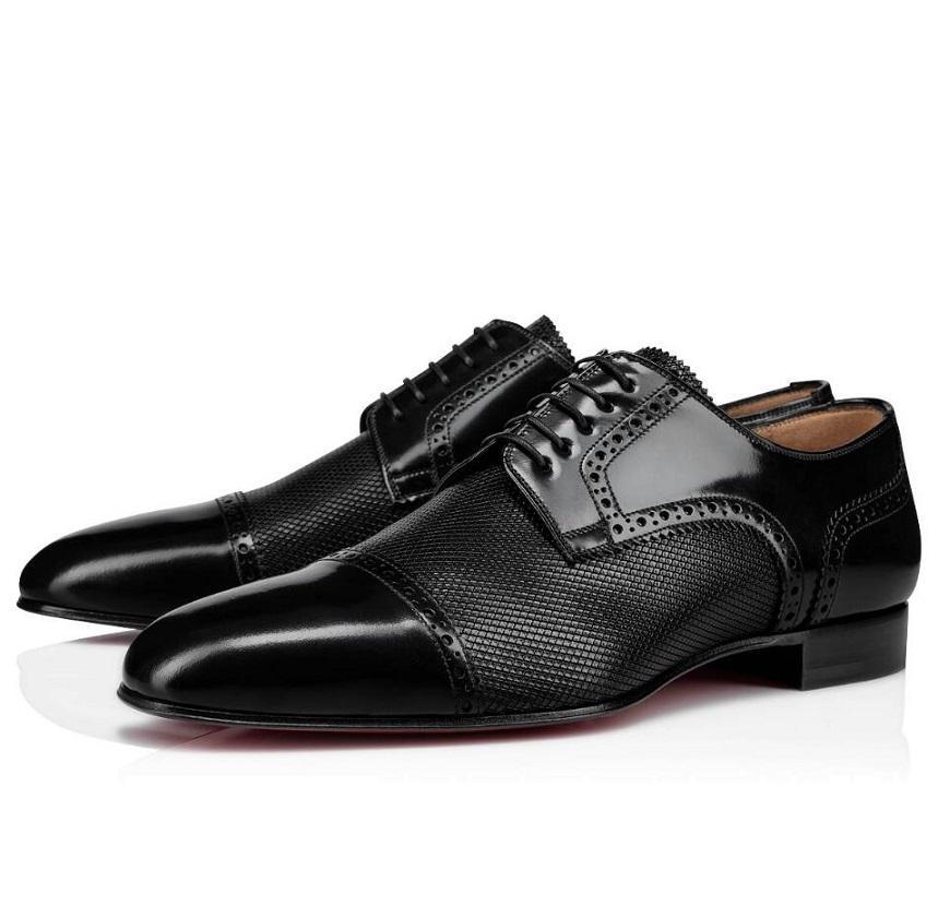 Moda Marca Eygeny Derby planas Cavalheiro parte inferior vermelha de sapatos de couro genuíno Oxford Shoes das mulheres dos homens do casamento Loafers partido