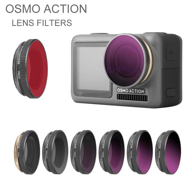 Cheap Filters Osmo Action Accessories Camera Lens Filters kit ND NDPL CPL UV filter for DJI Osmo Action Polarizing Lens Camera Accessory