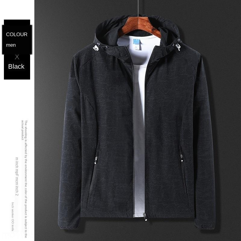 Тонкий мужская ветровка куртка куртка с капюшоном на открытом воздухе случайного альпинизма одежда дышащего света непромокаемого плаща для женщин