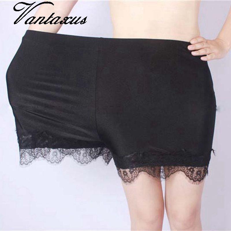 2020 donne pantaloncini pizzo estate più il formato 5XL bianco nero brevi cparis lucide grandi pantaloni corti al neon di comfort Spliced floreali