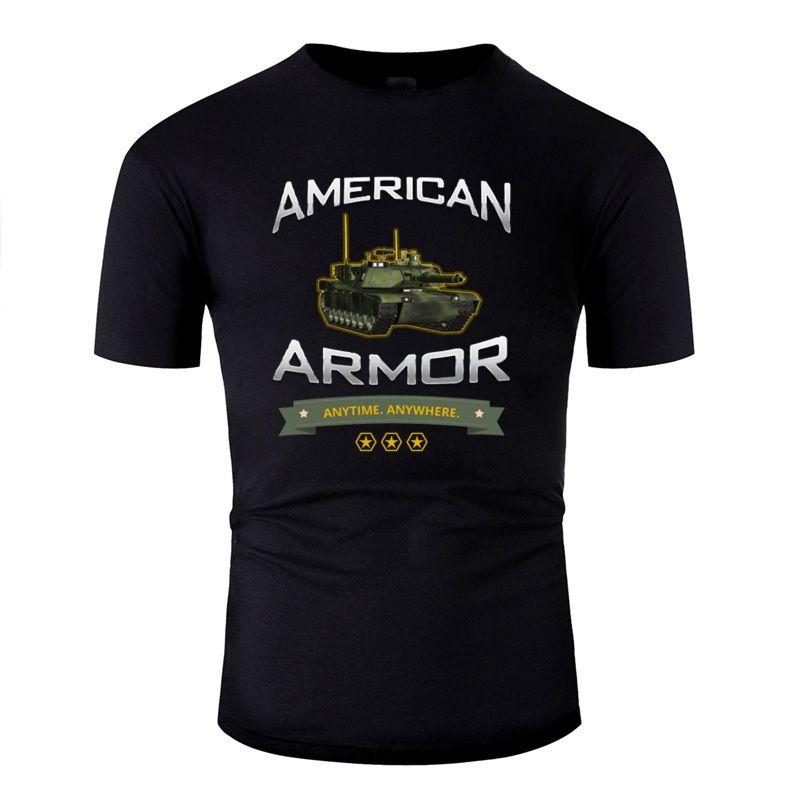 Divertente stampa americana Armatura: In qualsiasi momento. Dovunque. Shirt T per i Mens 100% Impressionante magliette girocollo Maschile 2020 Cotton