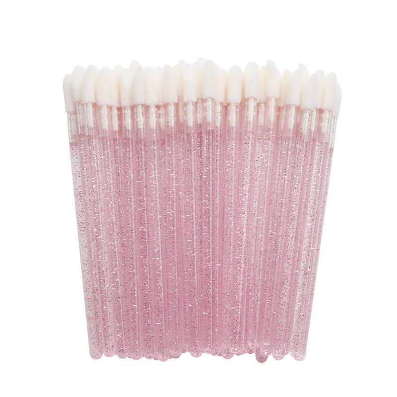 Vente en gros 50pcs / sac jetable cristal poteau brosse à lèvres beauté brosse rouge à lèvres portable outils de maquillage pinceau à lèvres à usage unique dhl Livraison gratuite