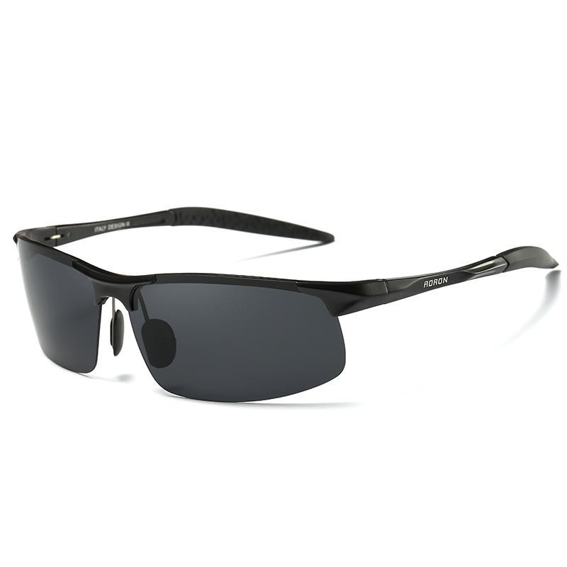 Lunettes de soleil Cadre sportif Hommes Aluminium polarisants conducteur Retro UV400 anti-éblouissement lunettes CH01