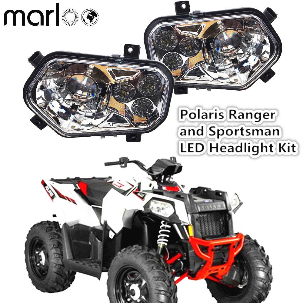 VTT UTV Lumière Accessoires Projecteur Projecteur pour Polaris Ranger / Sportsman phares LED Kit pour Polaris Ranger Side X Side