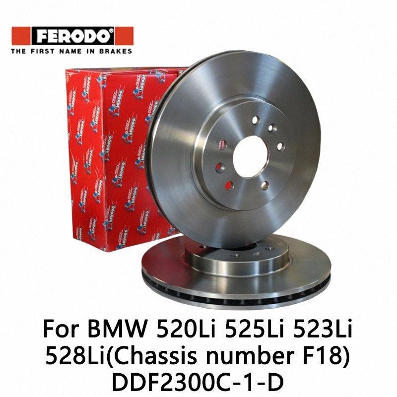 2 adet / set Ferodo Araç ön fren diski için 520Li 525Li 523Li 528Li (Şasi numarası F18) DDF2300C-1-D YbJS #