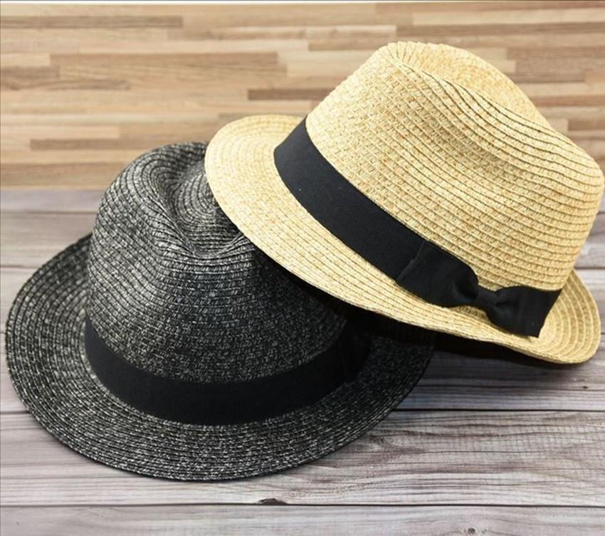 Plus la taille panama petite taille chapeaux de soleil de paille adulte femmes et homme chapeau fedora Cap de 54cm à 62cm 4 tailles S M L XL T200720
