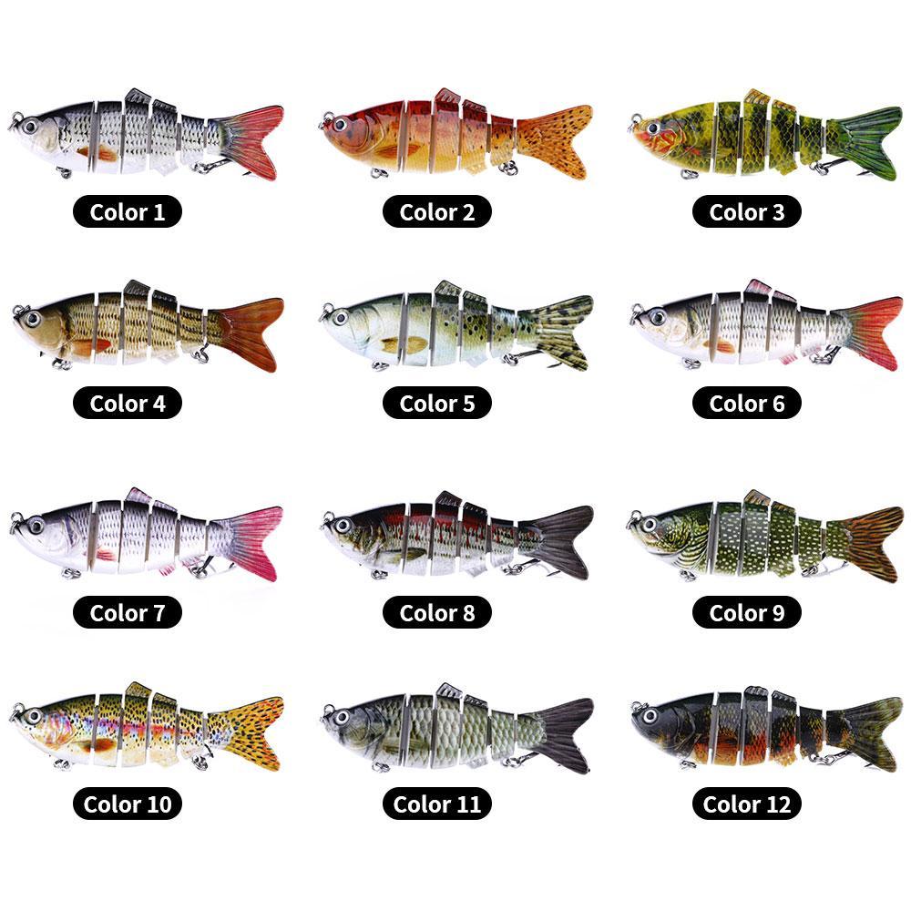Fishing Lure 10 centimetri 20g 3D Occhi a 6 segmenti realistica richiamo duro di pesca di Crankbait Con 2 Hook Pesca Esche Pesca Cebo per Bass Pike