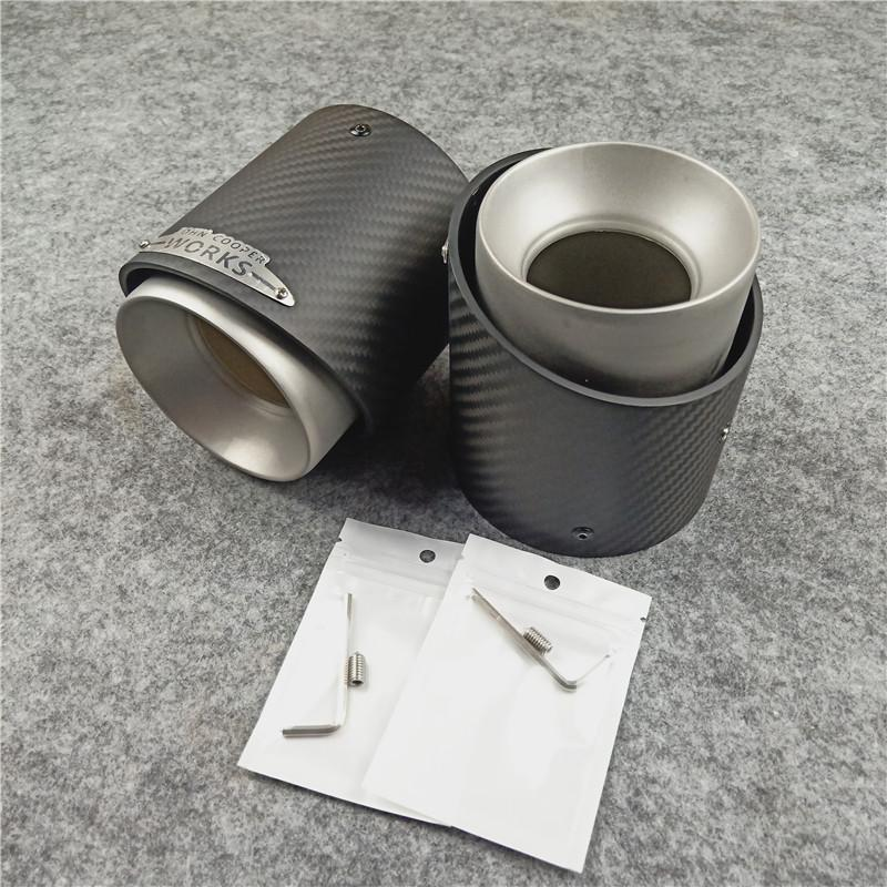 Car Exhaust 2pcs Car Exhaust Tip Muffler Pipe Cover for for Mini Cooper R55 R56 R57 R58 R59 R60 R61 F54 F55 F56 F57 F60 Color : Black 2pc