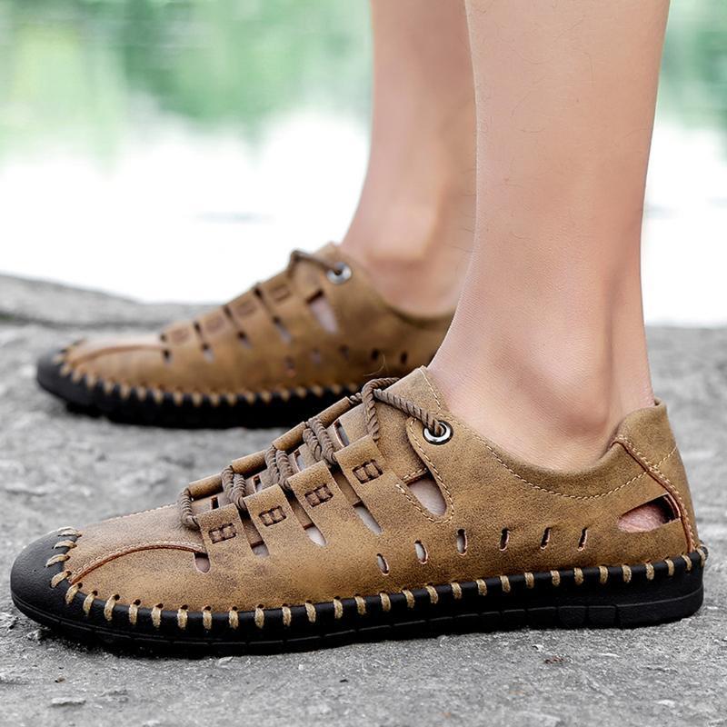 2020 Yaz Nefes Erkek Günlük Ayakkabılar Deri Rahat loafer'lar Yüksek Kaliteli Yumuşak Flats Işık Sürücü Ayakkabı