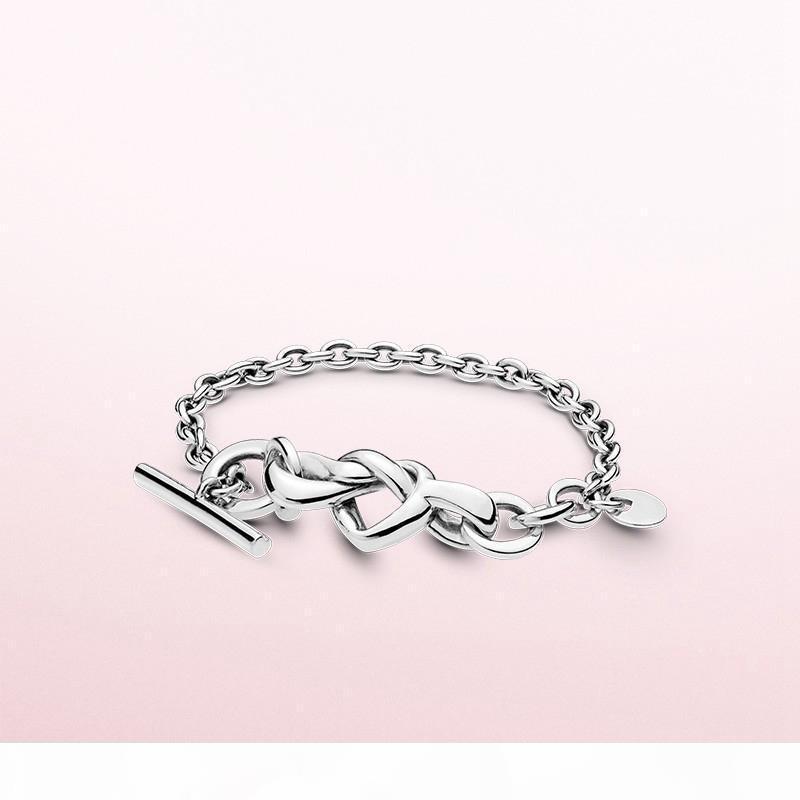 Herz verstrickt Armband für Designer-925 silberne Art und Weise Persönlichkeit klassische Männer Frauen mit dem Armband freies Verschiffen Armband