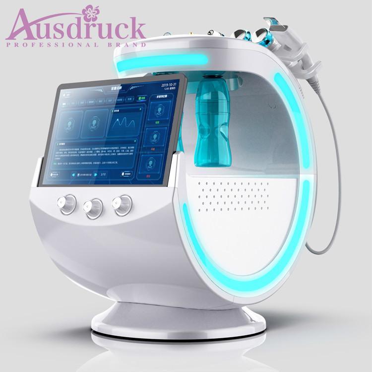 새로운 7in1 AI 지능형 분석 물 필링 Hydra Facial Dermabrasion Hydrapacial Gold RF Hydro Nano Spray Skin Care Cool Equipment CE