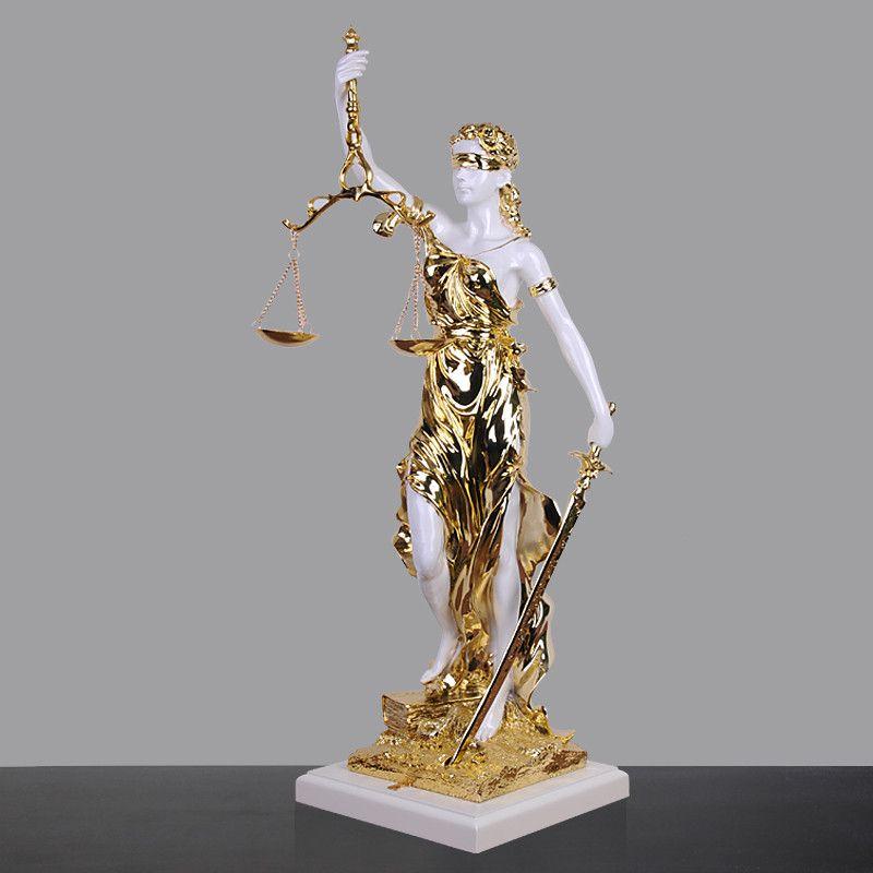 Antigua diosa griega de la justicia Estatua de resina artesanal retro decoración del hogar regalo de la decoración del ornamento hecho a mano para la escultura del arte de la sala