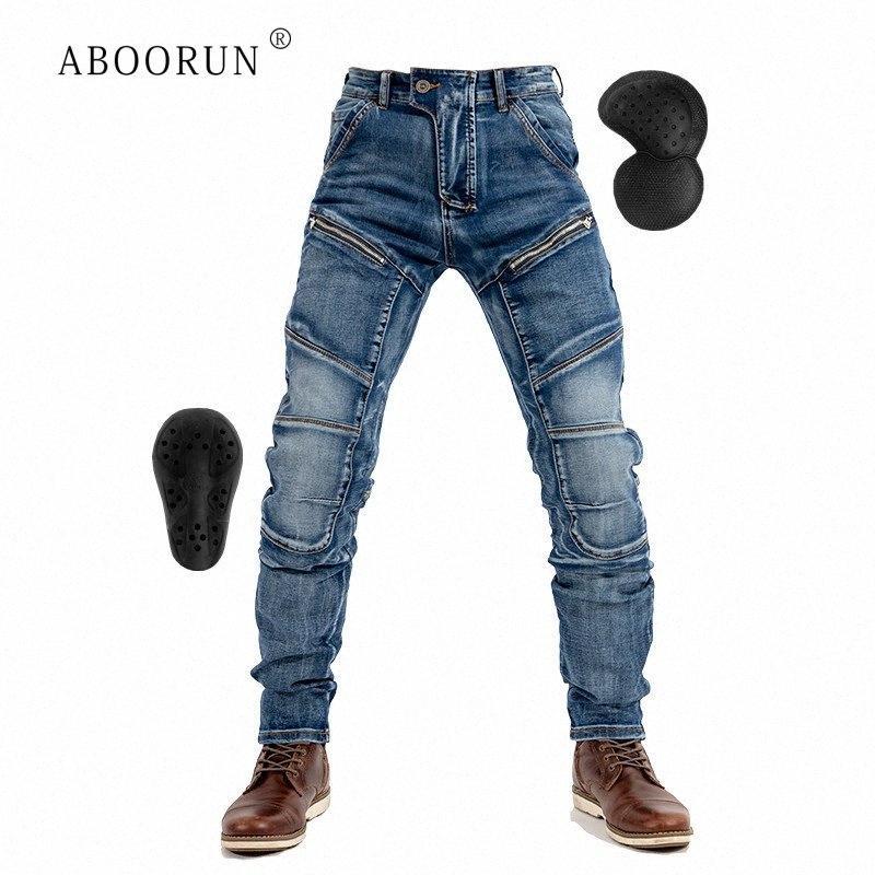 Jeans de haute qualité moto Marque Hommes élastiques Skinny Jeans avec Biker Équipement de protection Marque Urban Homme y53l #