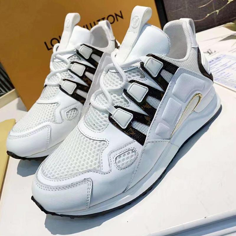 New alta qualidade Womens Shoes Run Away Sneaker Outdoor Sports Walking Shoes Low Top Lace -Up Casual Women Shoes Leve Chunky Sneakers