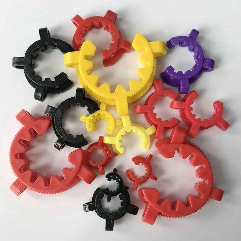 34mm 40mm 45mm en plastique Keck clip laboratoire Lab Pince en plastique clip de verrouillage pour les tuyaux d'eau Adaptateur Nector Collector Kit