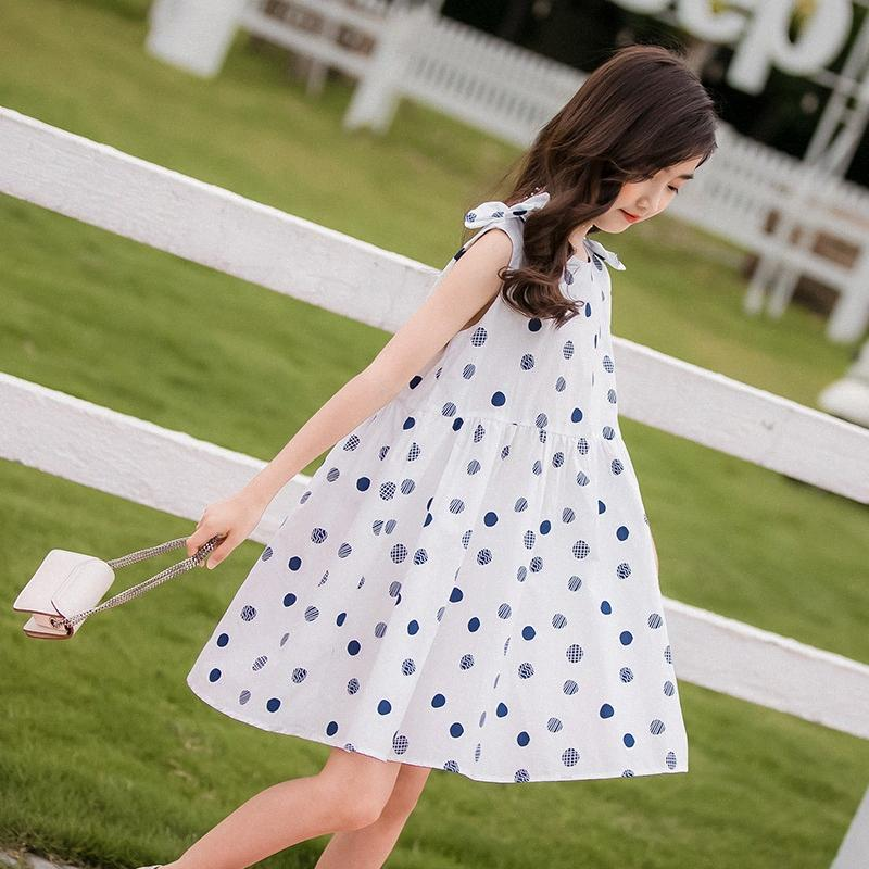 2020 2020 Summer White Bow Dresses For Teenager Kids Children Casual Clothes Polka Dot 14 Years Old From Bosiju, $25.27 | DHgate.Com Ea10#
