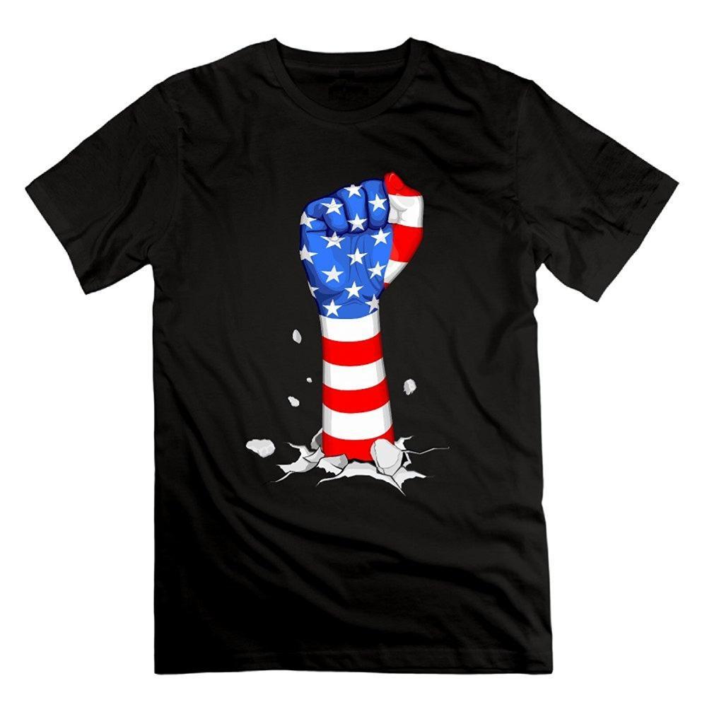 Kühle beiläufige Ärmeln Baumwolle T-Shirt Fashionmen American Faust Flag Design Baumwolle Kurzarm-T-Shirts