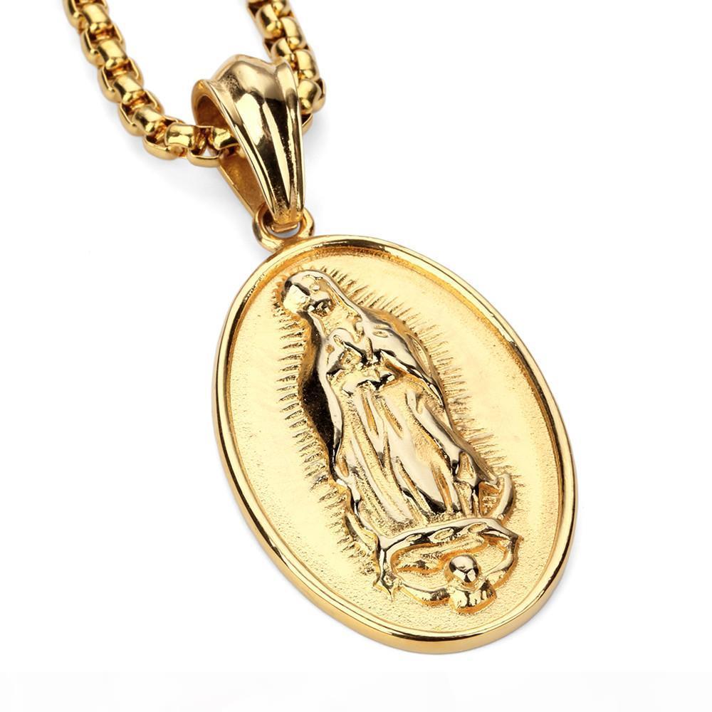 Hip Hop della stella con la Vergine Maria Pendant maschile e femminile Hip - Hop Hip - Hop Gioielli Collana Spot