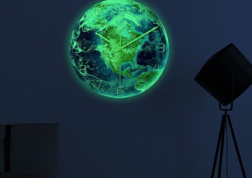 2020 decoración caliente venta su casa la luz del reloj de pared de acrílico del reloj siete continentes movimiento silencioso material decorativo 09