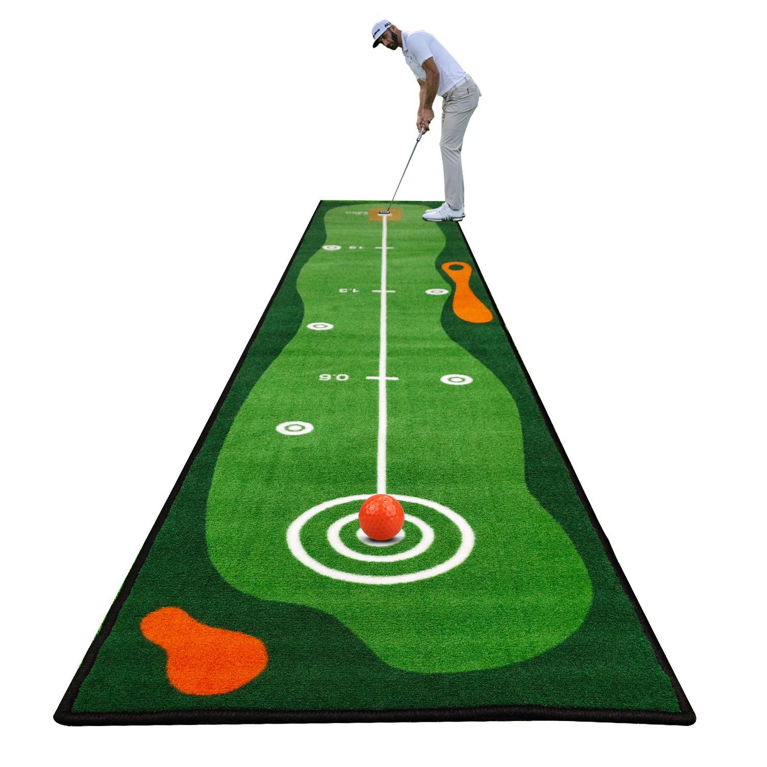 Indoor golf green family practice portable putter mini golf green practice blanket blanket kit can be folded and stored practice mat