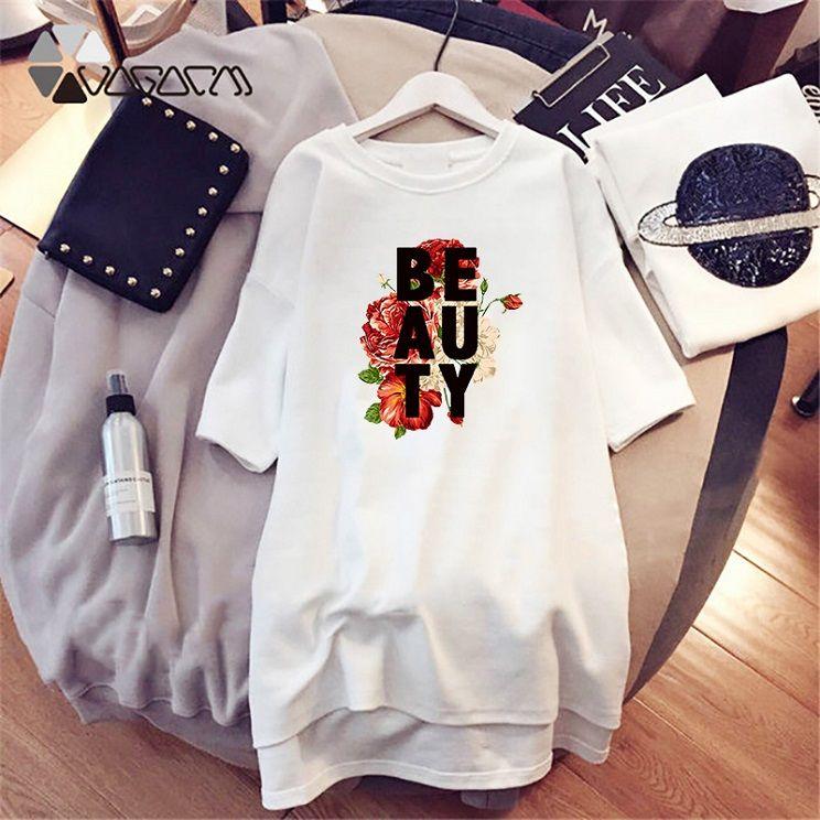 Yeni Şık Elbiseler Kadınlar Harf Baskılı Elbise Moda Tasarımcısı Ekip Boyun Kasetli Bayan Modelleri Casual Gevşek Uzun Kollu Giysi D001A800