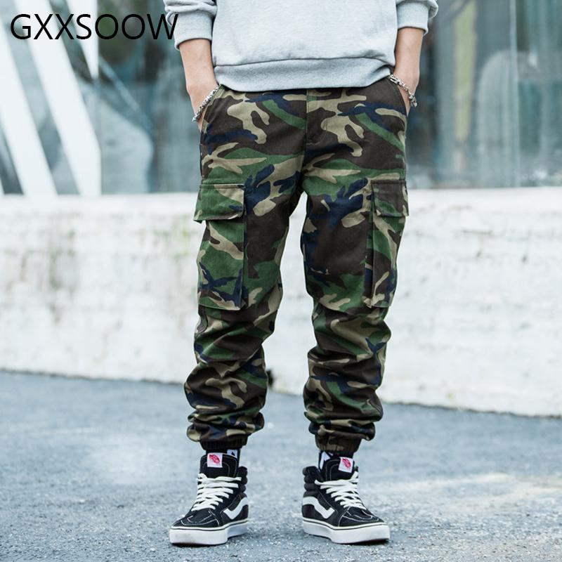 Mens Camouflage Cargo Pants 2020 Hip Hop Tactical Harem Jogger Hosen Male Fashion Street Camo Hosen Drop Shipping GM207